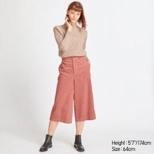 UniqloWOMEN HIGH-WAIST CORDUROY WIDE CROPPED PANTS