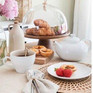 低至3.3折Le Creuset 多彩马卡龙色陶瓷制品好价 收方形陶瓷锅、茶壶