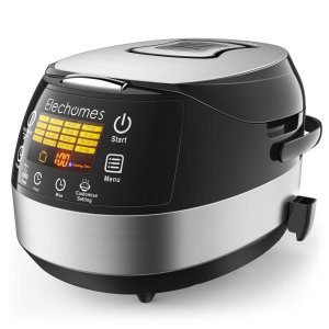 $47.99Elechomes CR502 10 Cups (Uncooked) Rice Cooker 16-Modes LED Touch Control Multi-Cooker with Steamer