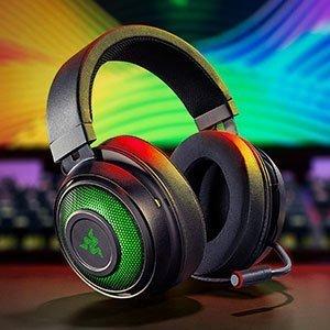8.4折 优惠价€125.93Razer Kraken Ultimate 头戴式游戏耳机 RGB幻彩 1.7万+好评