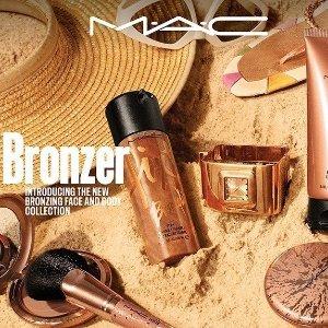 眼影$38 口红$33上新:M.A.C 新系列 Bronzer 收压纹碎钻眼影、金闪唇蜜