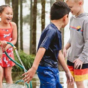 7折Hanna Andersson 儿童泳装、防晒服促销 泳装有长袖款