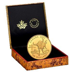 $98.99起加拿大2021年 农历牛年生肖纪念币发售 纯银/18k金可选