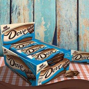 $7.92DOVE 100 Calories Milk Chocolate Candy Bar 0.65-Ounce Bar 18-Count Box