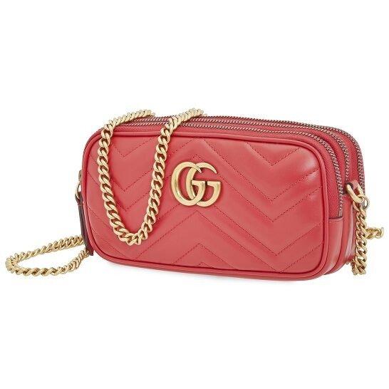 Ladies GG Marmont 红色相机包