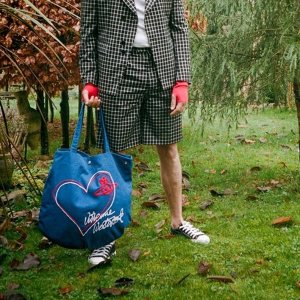 Vivienne Westwood6折,2色可选蓝色托特包