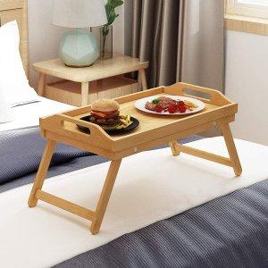 $35.99(原价$39.99)竹制可折叠托盘桌 假日懒人生活 病人床上起居好物