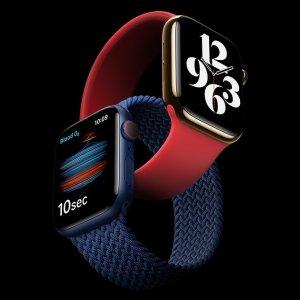 低至8.7折 最高立省€73.9Apple Watch Series 6 GPS+Cellular 44毫米版热卖 功能更强
