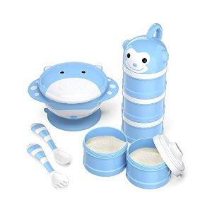 $15.99(原价$29.99)BabyKing 婴幼儿吸盘碗+奶粉分装盒+餐具套装