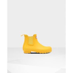 Hunter黄色低筒雨靴