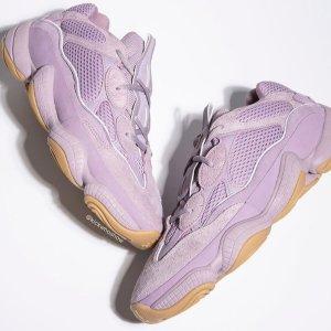 "$280包邮adidas Yeezy 500 ""Soft Vision"" 紫色 11月2日8:30开售"