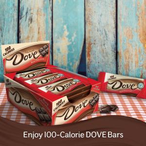 $10.09 一条只需$0.51Dove 黑巧克力整盒装 共18条