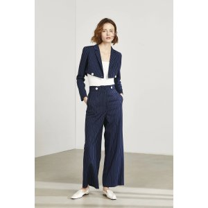 J.INGNavy Pinstriped Trousers