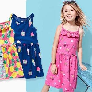清仓区上新$5+ 新品$7+折扣升级:Carter's官网 儿童连衣裙4折起热卖,女孩每天都爱穿