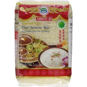 降价啦 售价€7.99 下单预定Aroy-D 泰国特选茉莉香米 长粒 1公斤x2包 免去超市自己搬