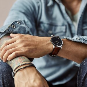 FossilThe Minimalist Slim Three-Hand Light Brown Leather Watch