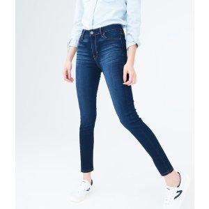 买一送一高腰牛仔裤