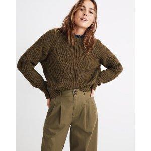 MadewellEverett Rib-Play Pullover Sweater