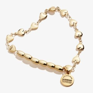 Alex and AniHeart Chain Stretch Bracelet Shiny Gold