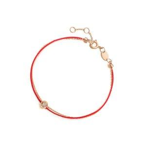 晒货同款,精致又好看~小钻石红绳手链