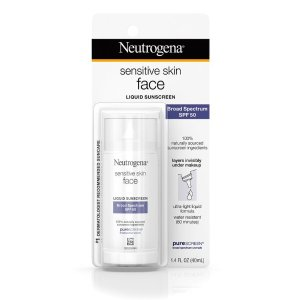 Neutrogena® Sensitive Skin Face Liquid Sunscreen Broad Spectrum SPF 50 |®