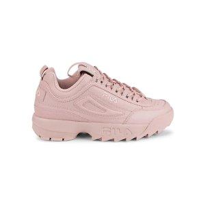 Fila少女粉Disruptor II Chunky 粉色老爹鞋
