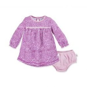 Burt's Bees BabySecret Garden Organic Baby Dress & Diaper Cover Set