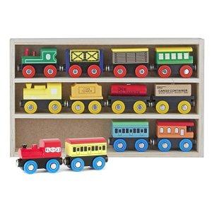 $19.99(原价$49.99)Play22 儿童木质磁力小火车套装12个,可兼容托马斯