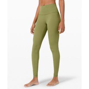 Lululemon瑜伽裤-牛油果绿28