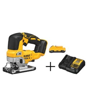 DEWALT 20-Volt MAX Lithium-Ion Brushless Cordless Jigsaw With Free Battery Pack 3.0 Ah and Charger @ The Home Depot
