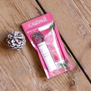 Caudalie30ml护手霜+4.5g唇膏玫瑰手霜套组