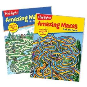 Maze 书6折 Puzzle 书7.5折Highlighs 儿童趣味益智书促销 风靡美国几十年的童书