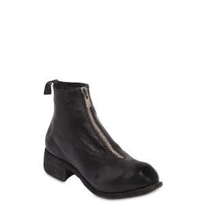 GuidiPL1 ZIP-UP FULL GRAIN LEATHER BOOTS