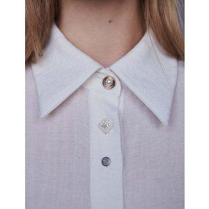 Maje珠宝扣衬衫