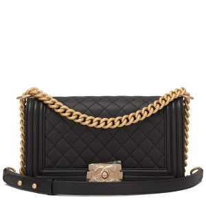Chanel Black Quilted Caviar Medium Boy Bag – Madison Avenue Couture