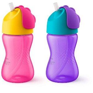 Philips Avent粉+紫色宝宝水杯,10盎司