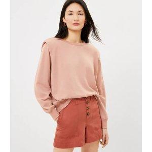 LOFTPadded Shoulder Sweatshirt   LOFT