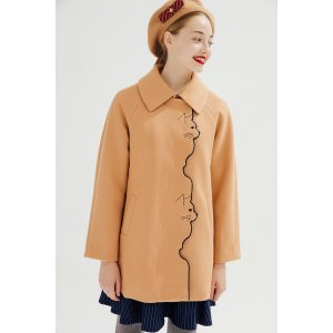 miss patinaKitten Anthem Coat (Camel)