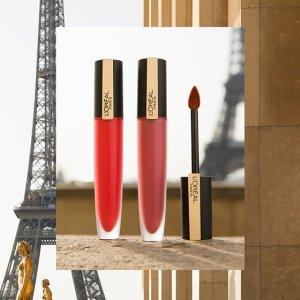 无门槛7折+免邮L'Oreal Paris 口红周惊喜大促 收小黑笔、新款湿吻小钢笔