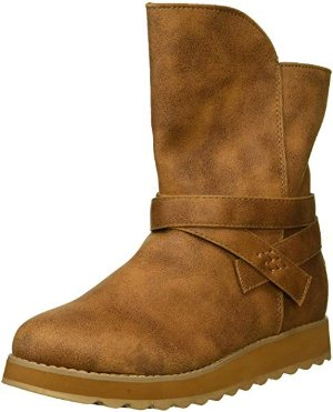 $18.12(Org.:$59.99)Skechers Women's Keepsakes 2.0 - Mid Boot with Strap Wrap Fashion, CSNT, 11 M US
