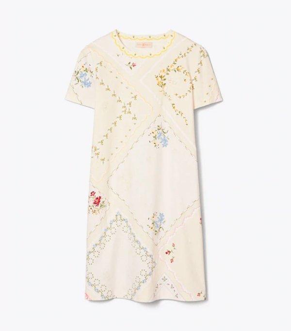 英式花朵连衣裙
