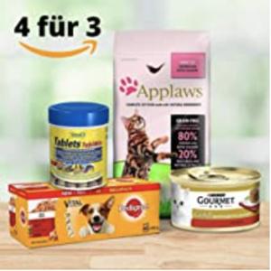 12个猫罐头仅€3.36Amazon 宠物用品专场 买4付3 猫狗粮、零食、家居、药品等