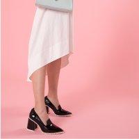 NINA HAUZER The Anna 黑色漆皮高跟鞋
