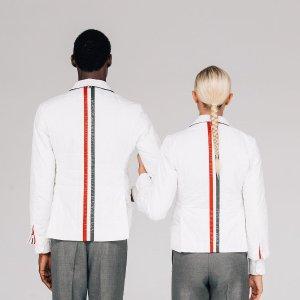 变相2.4折起 £188收格纹衬衣Thom Browne 新品超强热卖 经典学院风四道杠限时好价