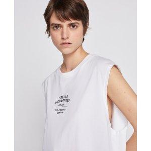 Stella McCartneyUnisex's White 23 OBS Sleevless T Shirt