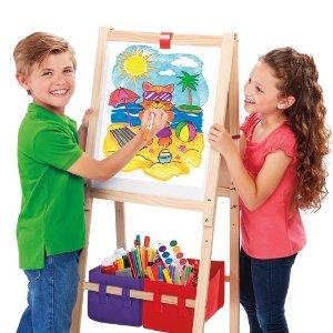 补货:Cra-Z-Art 3合1儿童立式木质画架,带白板可调高度