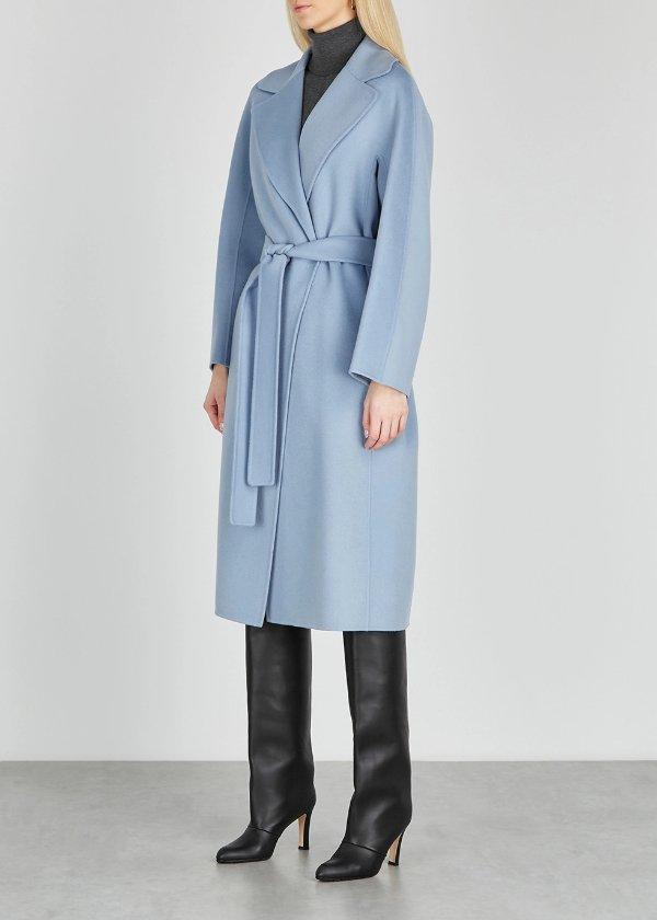Aria 婴儿蓝羊毛大衣