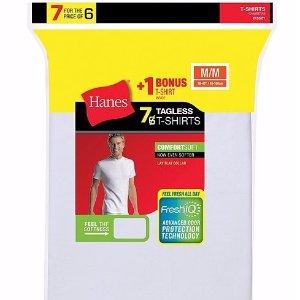 额外7折 $10.50包邮Hanes 男士打底衫7件套超低价大促
