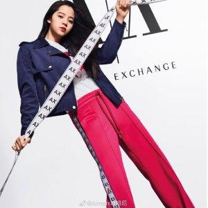 Armani Exchange欧阳娜娜同款运动裤