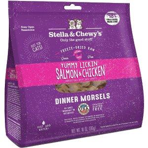 Stella & Chewy's三文鱼鸡肉味冻干猫粮 18oz